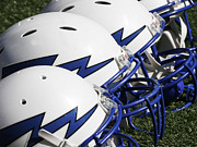 Ncaa Prints - Air Force Falcons Helmets Print by GerMaine Photography