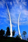 Steel Greeting Cards Posters - Air Force Memorial III Poster by Steven Ainsworth