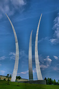 Acrylic Print Framed Prints - Air Force Memorial IV Framed Print by Steven Ainsworth
