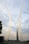 Usaf Framed Prints - Air Force Memorial Framed Print by Roberto Westbrook