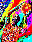 Michael Jordan Painting Framed Prints - Air Jordan Framed Print by Mike OBrien