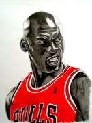 Air Jordan Raging Bull Drawing Print by Keeyonardo