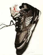 Air Jordan Drawings - Air Jordan by Robert Morin