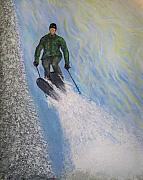 Skiing Art Painting Posters - Air Poster by Michael Cuozzo