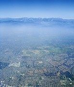 Air Pollution Over Los Angeles Print by Detlev Van Ravenswaay