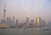 Shanghai Photos - Air Pollution Over Shanghai, China by Jeremy Walker