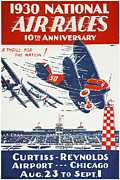 Biplane Photos - Air Race Poster, 1930 by Granger