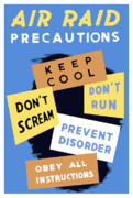Wwii Posters - Air Raid Precautions Poster by War Is Hell Store