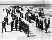 Ev-in Metal Prints - Air Sailors Being Inspected At Floyd Metal Print by Everett
