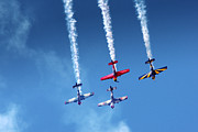 Smoke Trail Framed Prints - Air Show Framed Print by Carlos Caetano