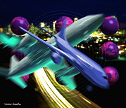Air Traffic Control Prints - Air Travel Print by Victor Habbick Visions