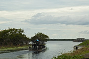 Swampland Metal Prints - Airboat on Lake Trafford Metal Print by Carolyn Marshall