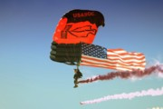 Us Army Air Force Digital Art Posters - Airborne Carries the Flag Poster by Gus McCrea