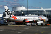 Jetstar Photo Metal Prints - Airbus A320-232 Metal Print by Tim Beach
