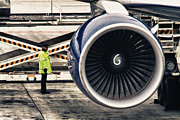 Airliner Prints - Airbus Engine Print by Stylianos Kleanthous