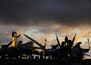 Enterprise Metal Prints - Aircraft Carrier Metal Print by Ahp