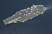 Supercarrier Prints - Aircraft Carrier Uss George Washington Print by Stocktrek Images