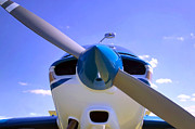 Single-engine Photo Prints - Aircraft nose cone. Print by Richard Thomas