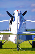 Airplane Prints - Aircraft rear view Print by Richard Thomas