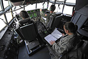 Control Prints - Aircrew Perform Preflight Checklists Print by Stocktrek Images