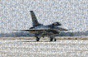 Airforce F-4866 Mosaic  Print by Darleen Stry