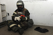 Gear Photos - Airman Dons His Chemical Warfare by Stocktrek Images