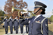 Arkansas Prints - Airman Plays Taps During The Veterans Print by Stocktrek Images