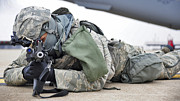 Airman Provides Security At Whiteman Print by Stocktrek Images