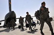 Camouflage Framed Prints - Airmen Arrive In Iraq In Support Framed Print by Stocktrek Images