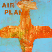 Kids Room Art Metal Prints - Airplane Metal Print by Laurie Breen