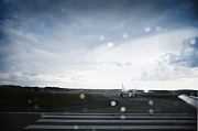 Air Traffic Control Prints - Airplane on Runway Print by Shannon Fagan
