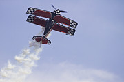 Airplane Performing Stunts At Airshow Photo Poster Print Print by Keith Webber Jr