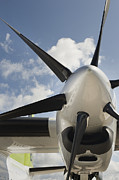 Air Travel Framed Prints - Airplane propeller Framed Print by Noam Armonn