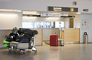 Air Travel Prints - Airport Baggage Area Print by Jaak Nilson