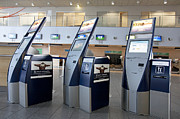 Tallinn Airport Photo Posters - Airport Check In Terminals Poster by Jaak Nilson