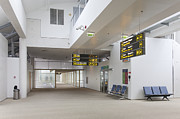 Tallinn Airport Photo Posters - Airport Concourse Poster by Jaak Nilson
