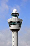 Airport Architecture Framed Prints - Airport Control Tower. Framed Print by Fernando Barozza