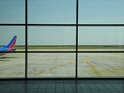 Air Travel Prints - Airport Departure Area Print by David Buffington