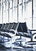 Airport Architecture Prints - Airport Departure Seating Print by Dave & Les Jacobs