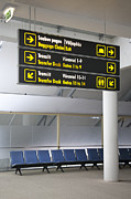 Airport Concourse Prints - Airport Directional Signs Print by Jaak Nilson