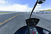 Asphalt Photos - Airport Runway From a Cockpit by Don Mason
