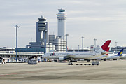 Airport Architecture Prints - Airport Tarmac Print by Jeremy Woodhouse