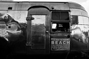 Beach Sign Framed Prints - Airstream at the Beach Framed Print by David Lee Thompson