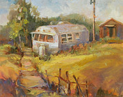 Nostalgia Paintings - Airstream Nostalgia by Marty Husted
