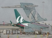 Passenger Plane Metal Prints - AirTran Airlines Signage Orlando FL Digital Art Metal Print by Thomas Woolworth