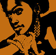 African American Digital Art Metal Prints - Aisha Metal Print by Irina  March