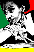African Digital Art Posters - Aisha Jamaica Poster by Irina  March