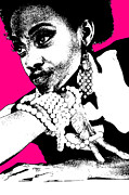 African Woman Posters - Aisha Pink Poster by Irina  March