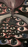 Insight Paintings - Aiwass Or Eyes by Shahine Ali