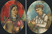 Micro Art Paintings - Akbar and Jodha bai by Suresh M Lohar